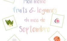 Kit Gratuit - Mon mémo fruits et légumes du mois de Septembre