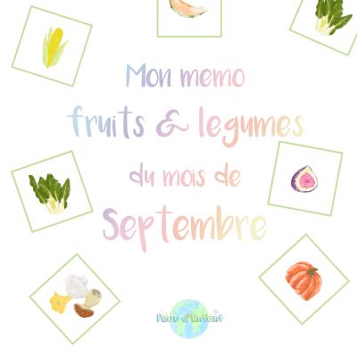Kit Gratuit – Mon mémo fruits et légumes du mois de Septembre
