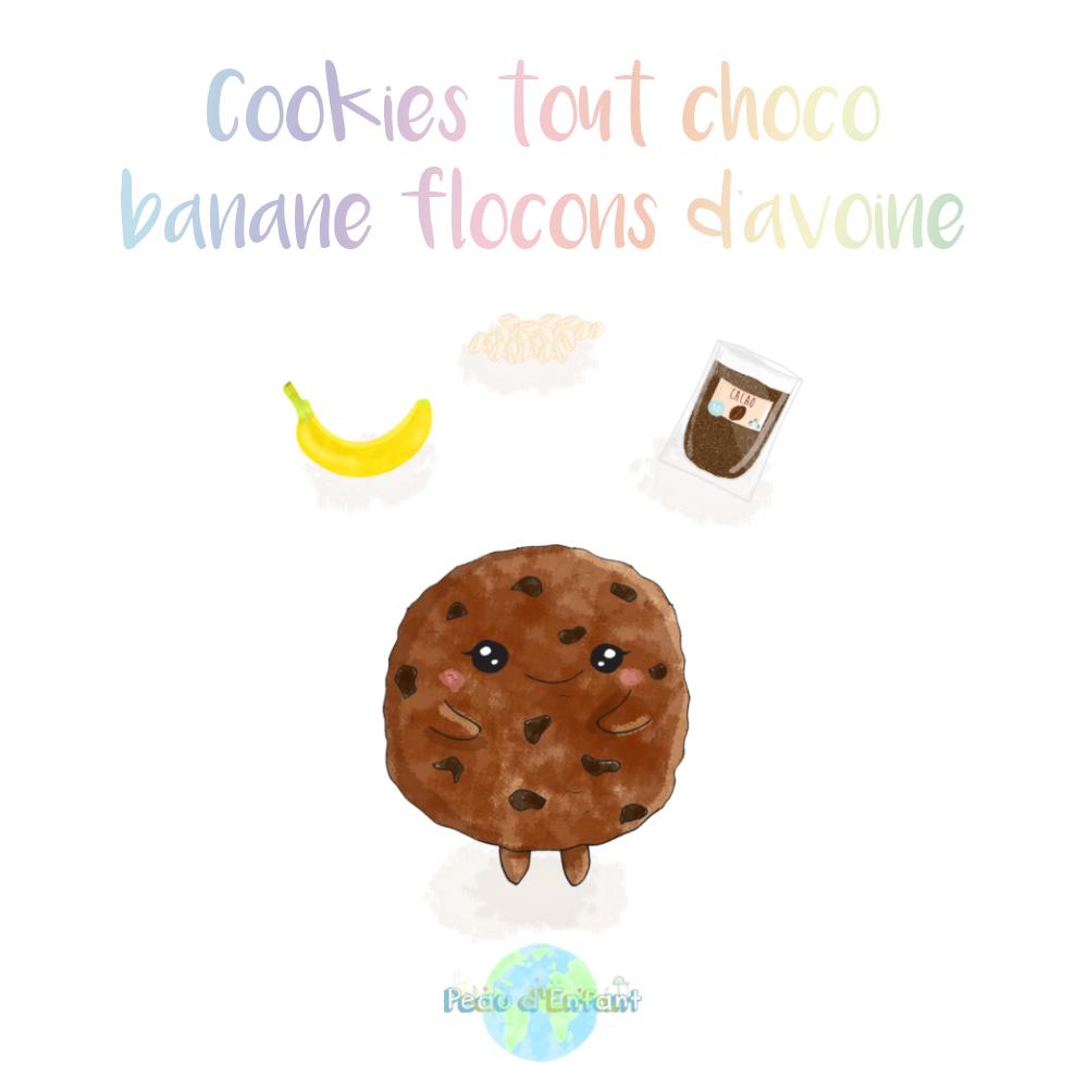 Cookies tout choco, banane et flocons d'avoine : la recette.