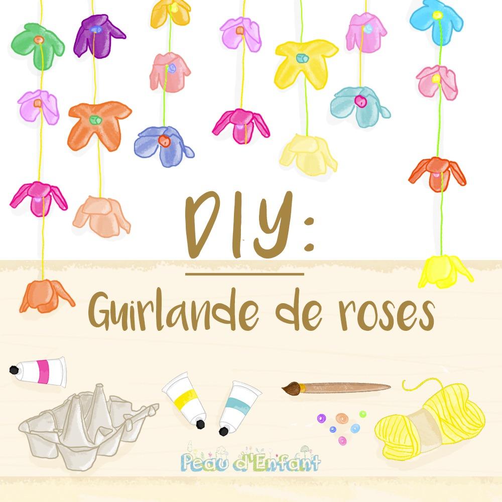 DIY : Guirlande de roses