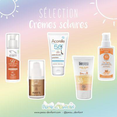 La sélection des crèmes solaires saines